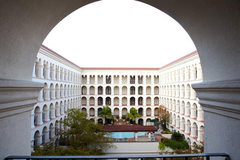 旅馆庭院-奥斯汀,得克萨斯 图库摄影
