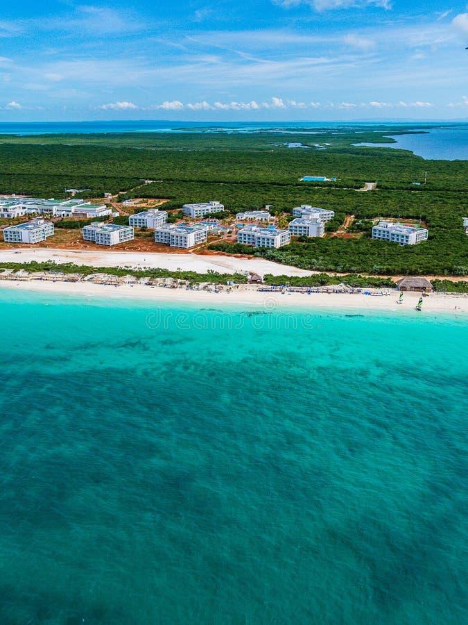旅馆建设中古巴北钥匙的 免版税库存照片
