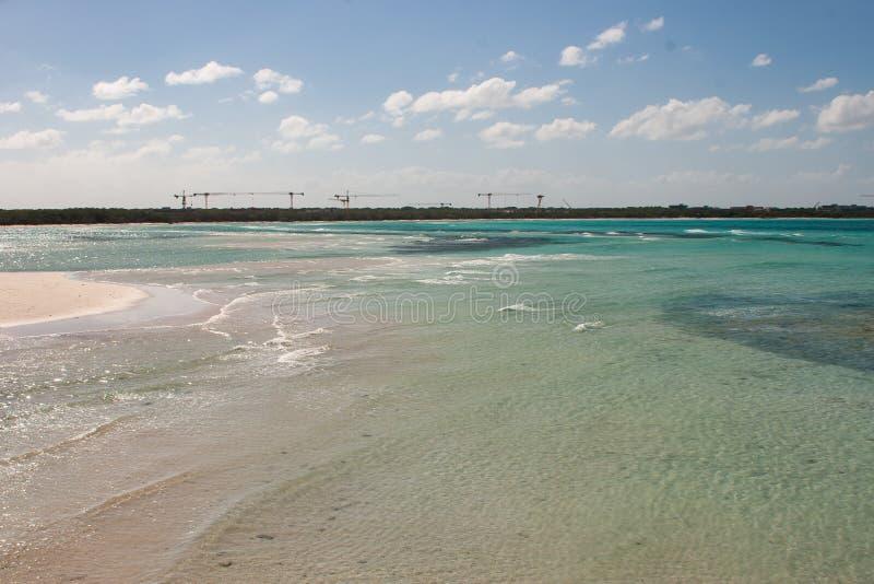 旅馆建设中在科科岛,古巴 免版税库存照片
