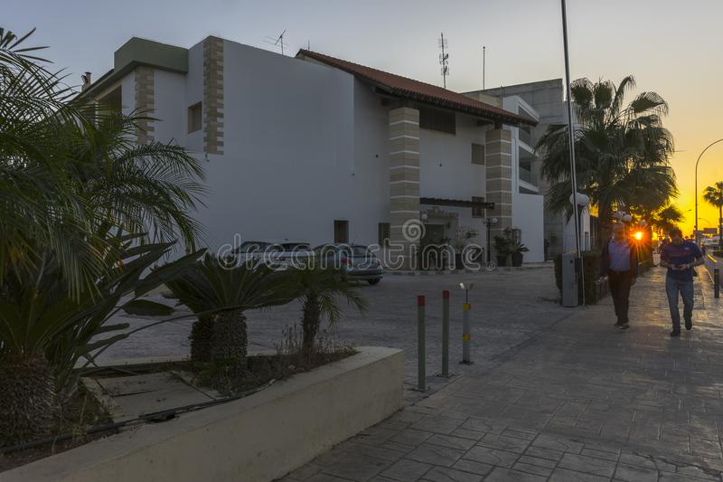 旅馆手段在Ayia Napa 库存照片