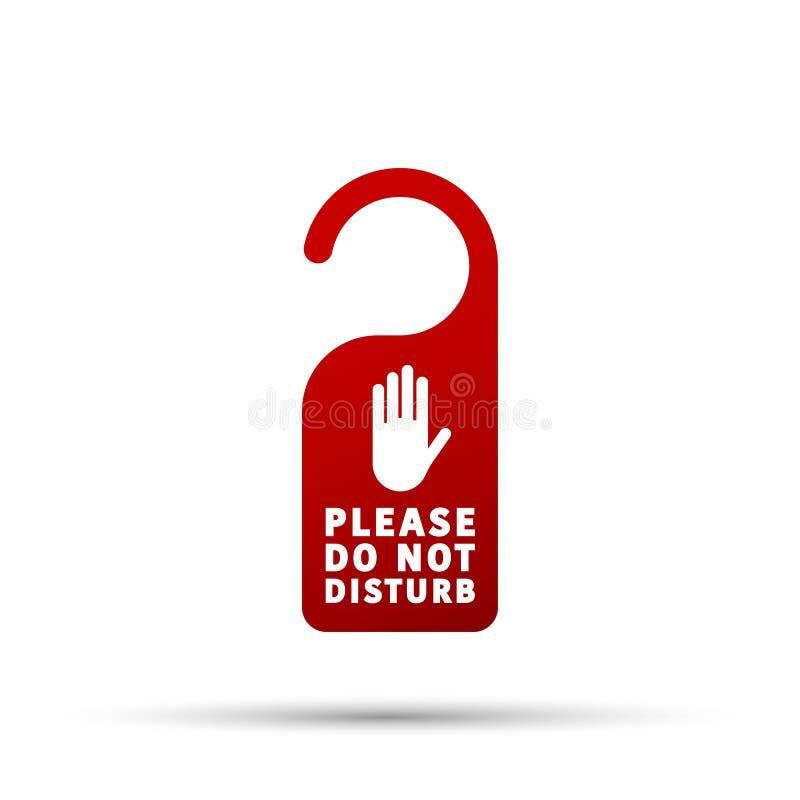 旅馆拉门吊挂装置标记,消息-不要干扰标志 库存例证