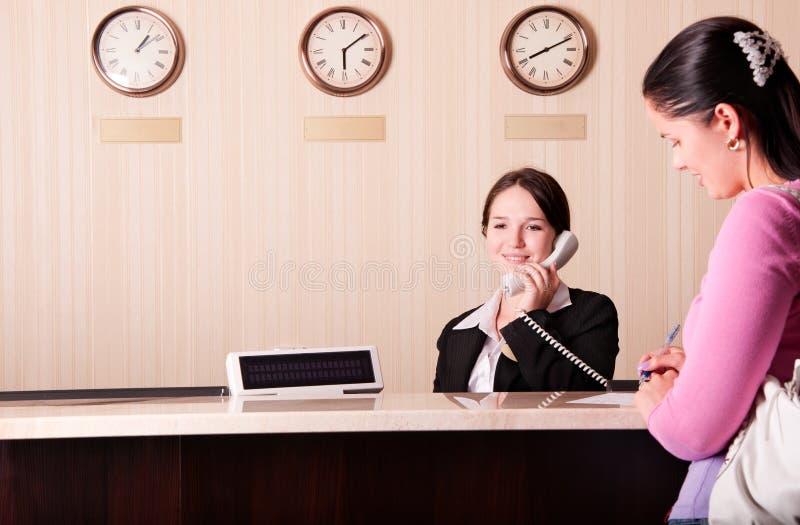 旅馆接收 免版税库存照片