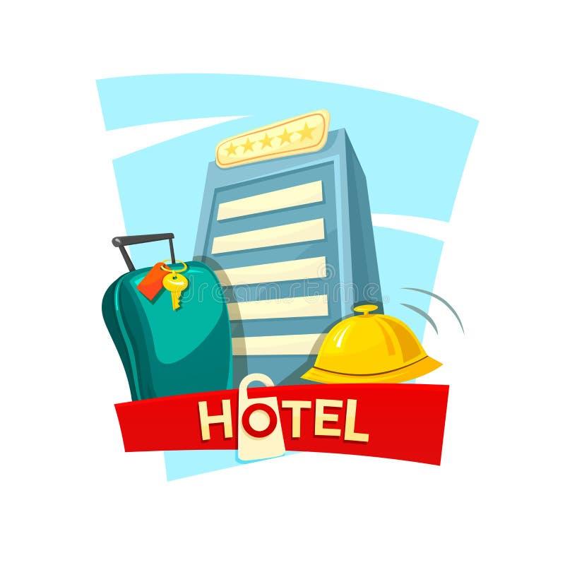 旅馆构思设计,传染媒介例证 库存例证
