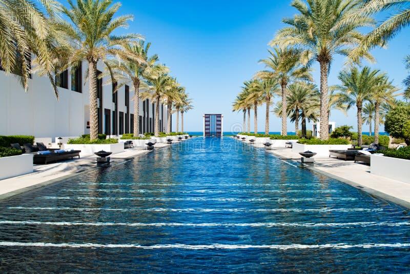 旅馆水池Chedi,马斯喀特,阿曼 库存照片