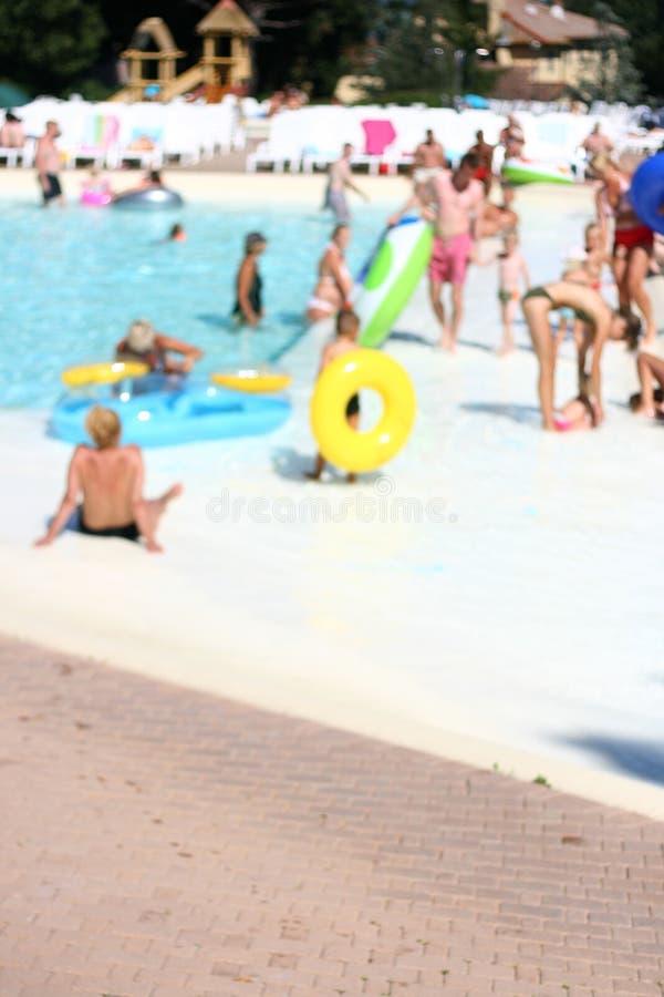 旅馆池游泳 图库摄影