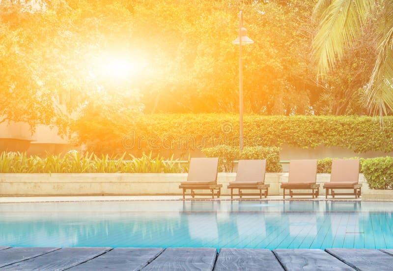 旅馆游泳池  向量例证