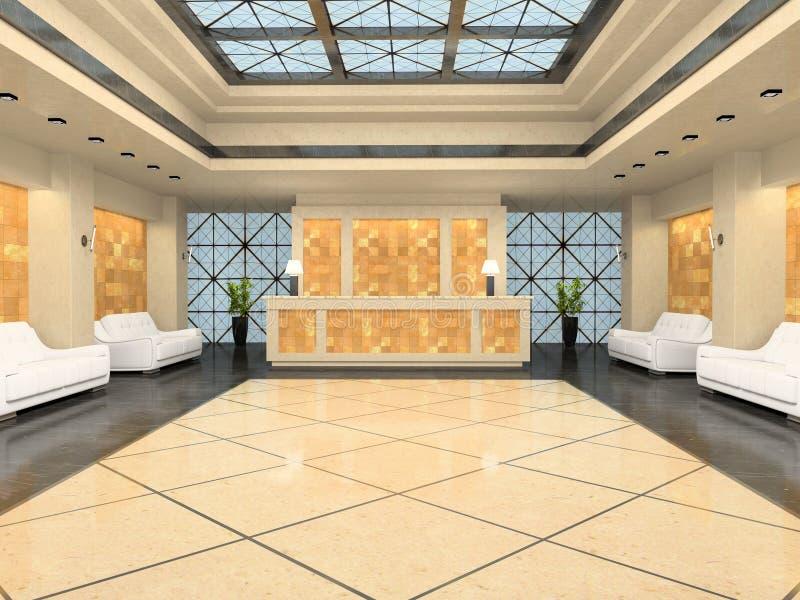 旅馆现代接收 向量例证