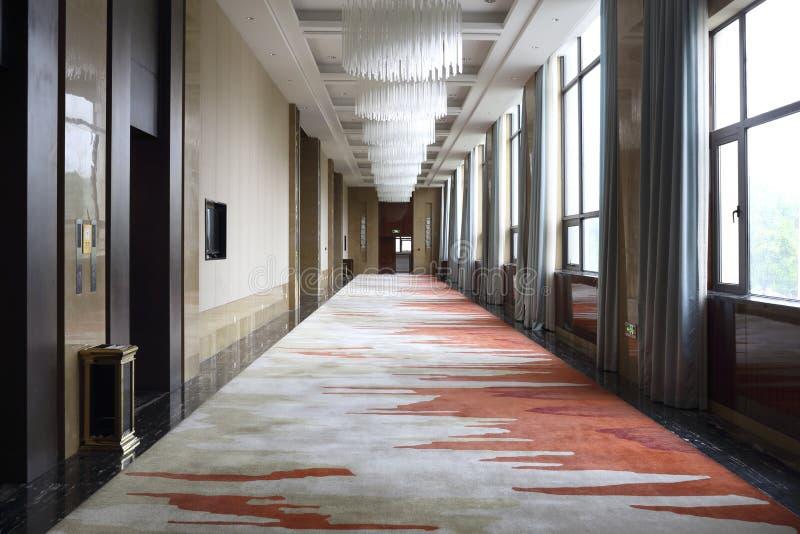 旅馆的走廊 免版税库存照片