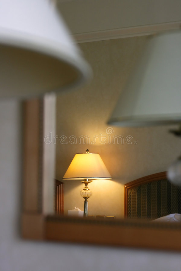 旅馆矿灯房 库存照片