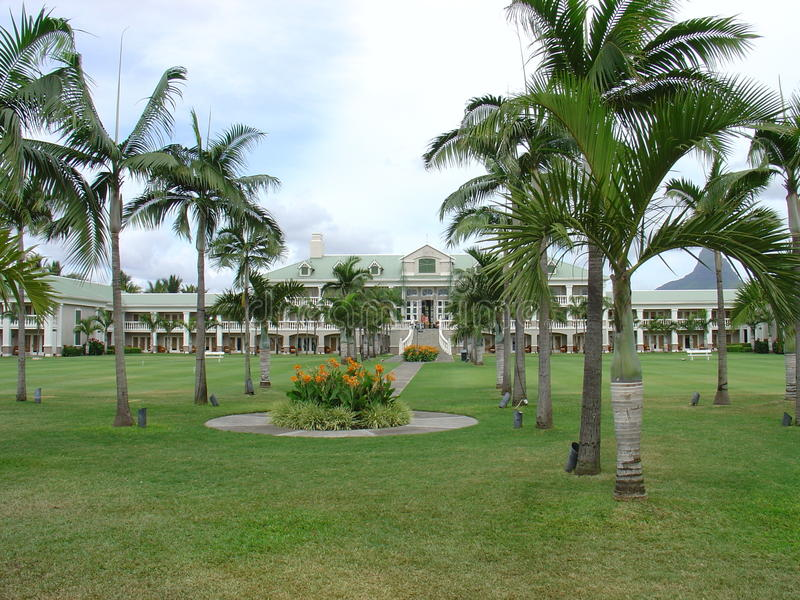 旅馆糖海滩毛里求斯 免版税库存图片