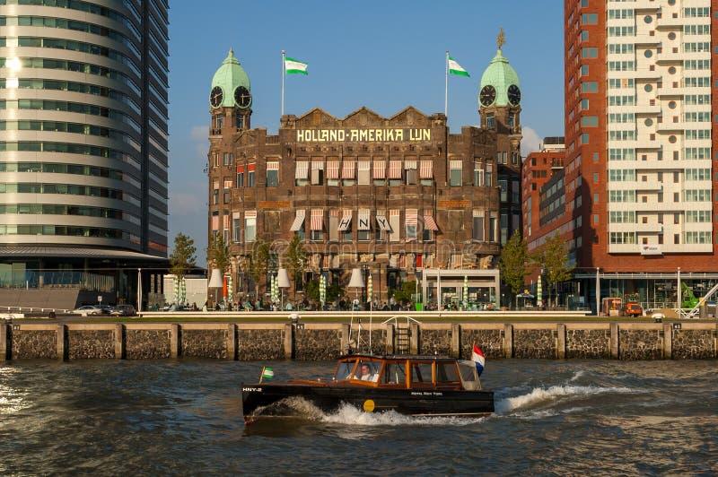 旅馆纽约在鹿特丹,荷兰 免版税库存照片