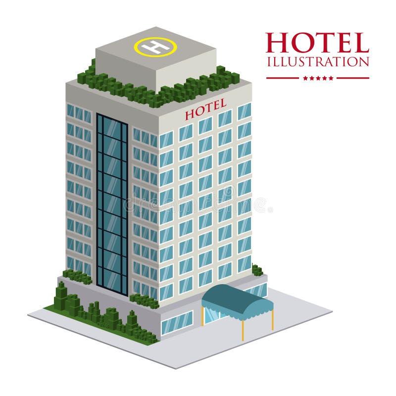 旅馆设计 皇族释放例证