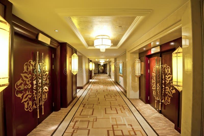 旅馆走廊 免版税库存图片