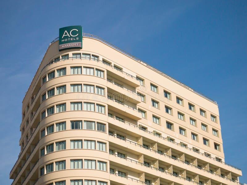 旅馆马拉加marriott西班牙 免版税库存照片