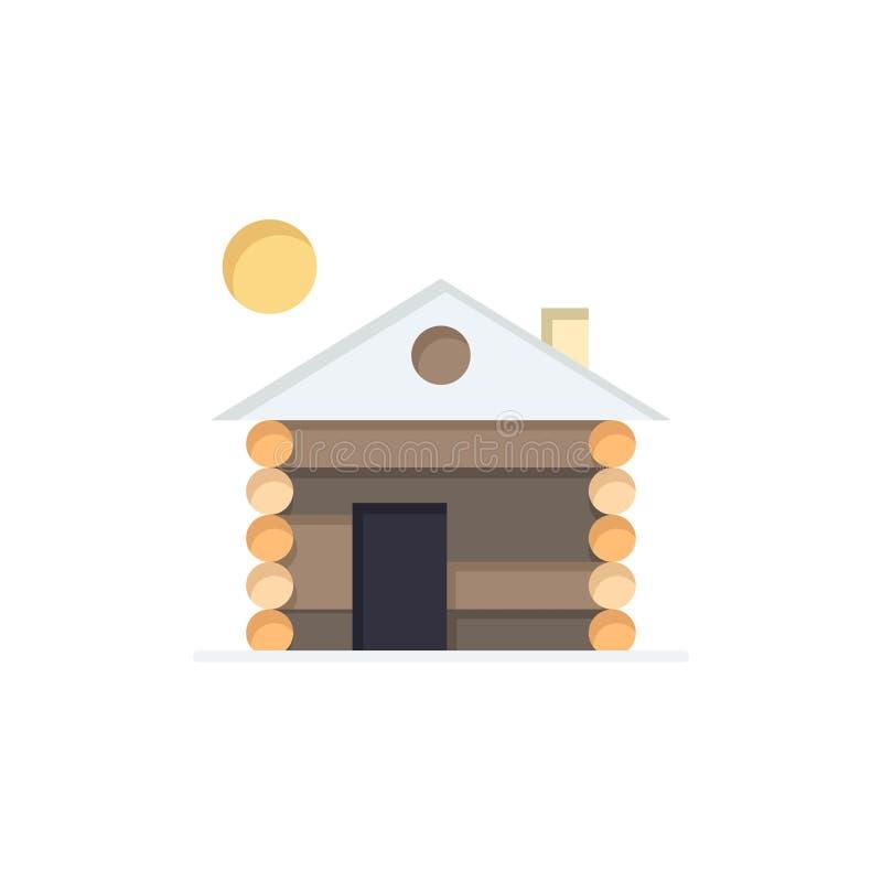 旅馆,大厦,服务,家庭平的颜色象 传染媒介象横幅模板 向量例证