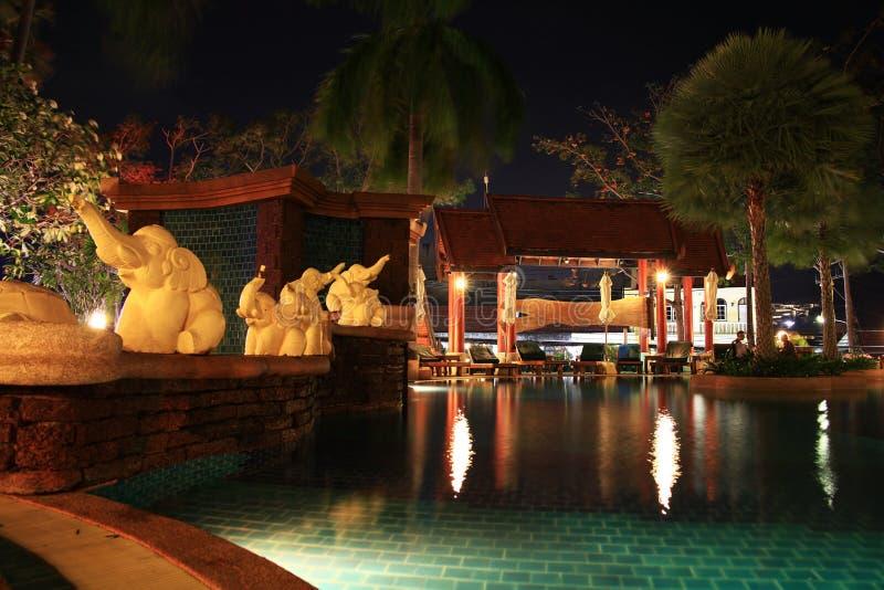 旅馆水池和酒吧 库存照片
