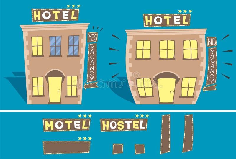 旅馆 库存例证