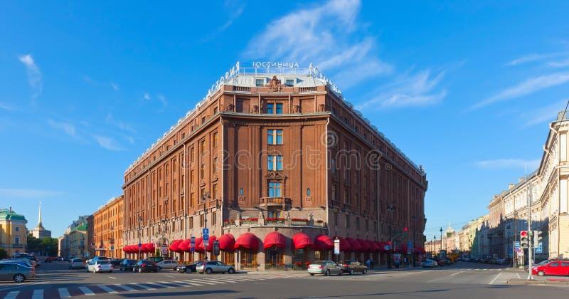旅馆Astoria在圣彼德堡。 俄国 编辑类照片