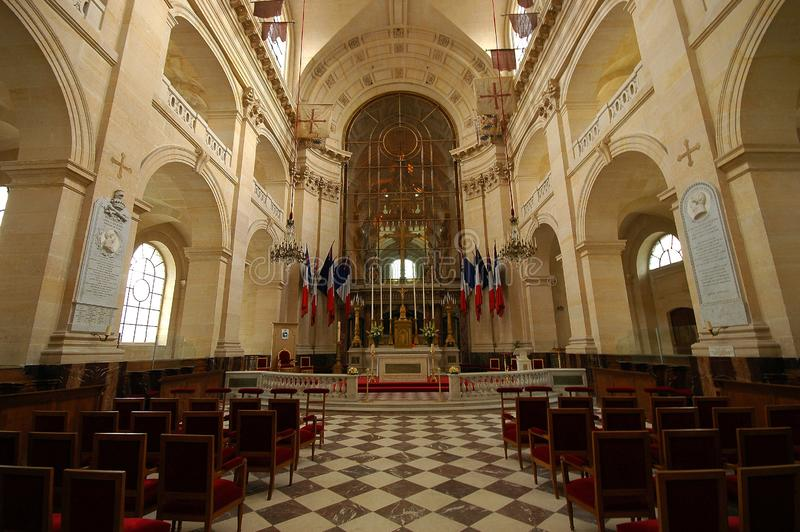 旅馆des Invalides教会在巴黎 库存图片