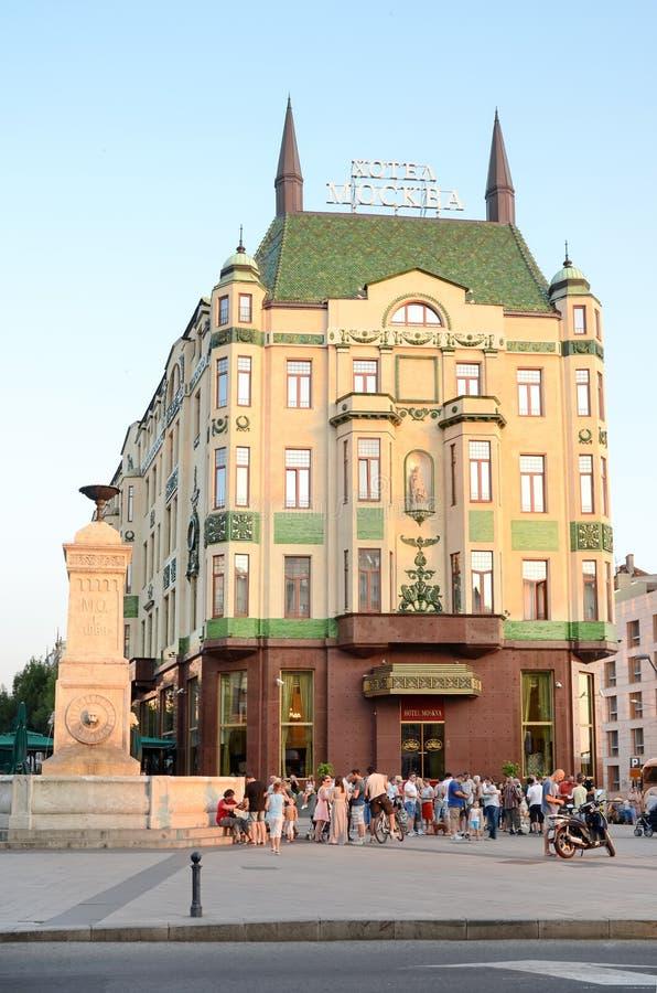 旅馆Moskva,贝尔格莱德,塞尔维亚 库存照片