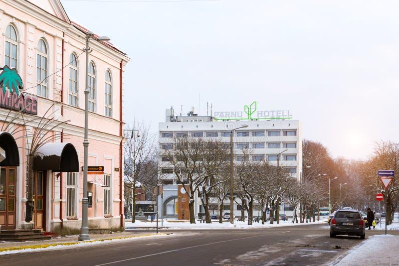旅馆Parnu在爱沙尼亚 库存图片