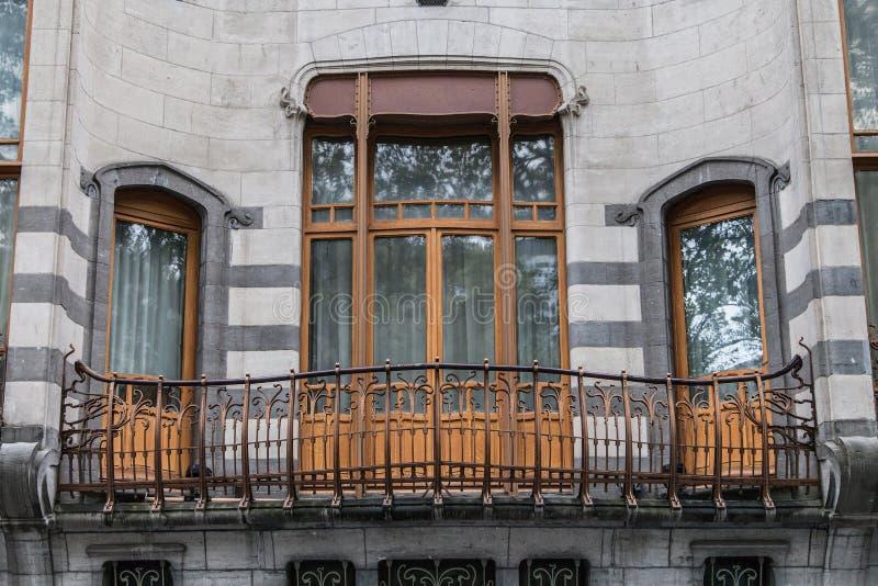 旅馆Solvay的阳台 库存照片