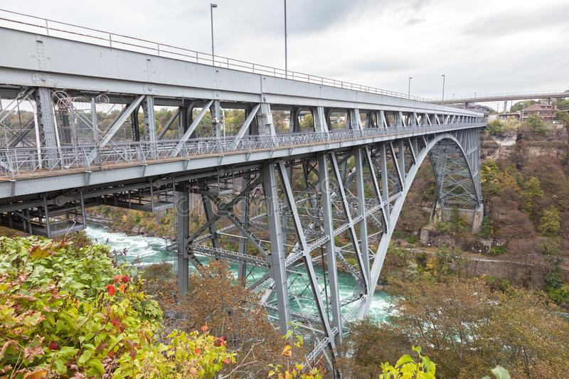 旋涡急流桥梁,加拿大 免版税库存照片
