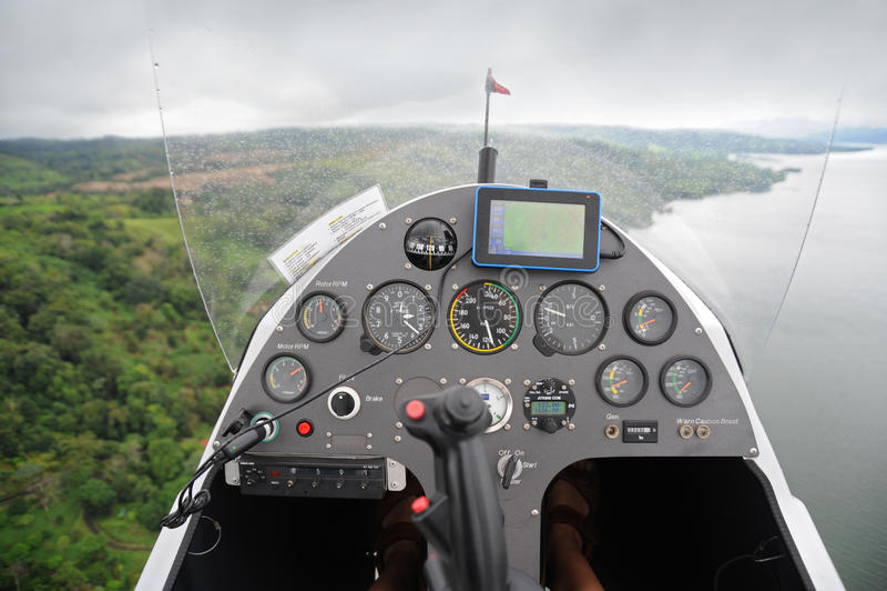 旋翼机控制板s 免版税图库摄影