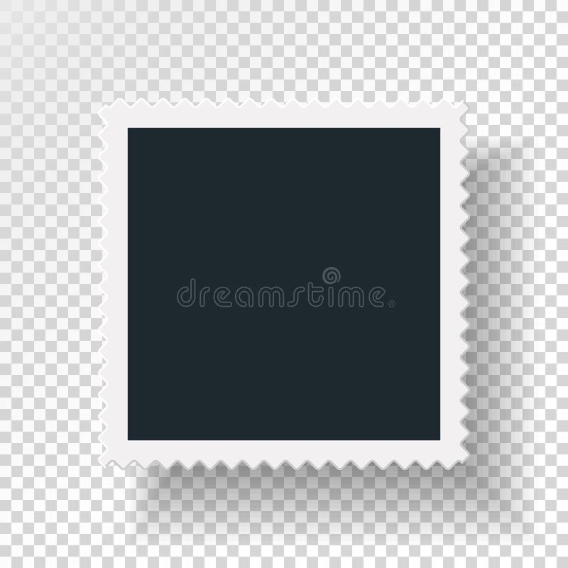 旋转的概念reasirtic与减速火箭的照片框架,加倍在透明背景的被隔绝的对象与阴影 库存例证