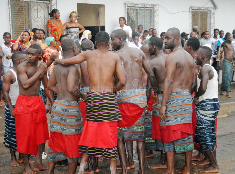 族群阿比将Ebrié一代节日  免版税库存照片