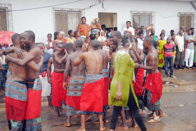 族群阿比将Ebrié一代节日  免版税库存图片