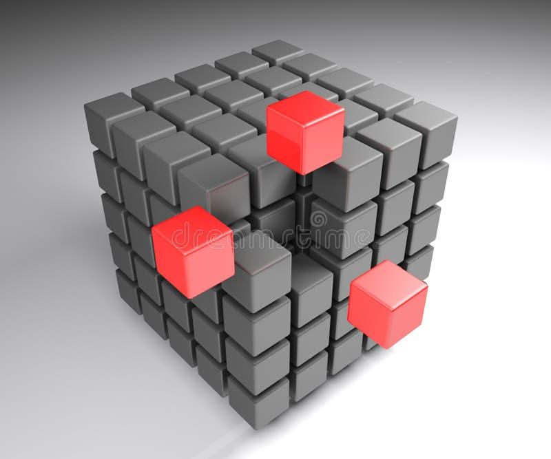 族聚概念立方体- 3D翻译例证 向量例证