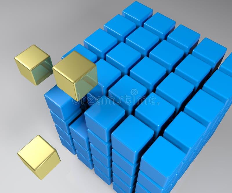 族聚概念立方体- 3D翻译例证 皇族释放例证