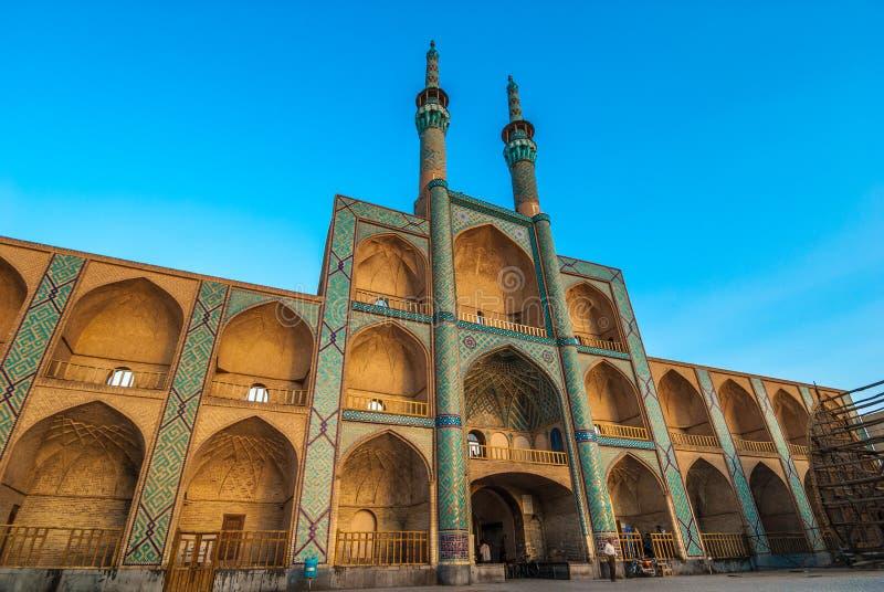 贵族Chakhmaq复合体在亚兹德,伊朗 库存图片