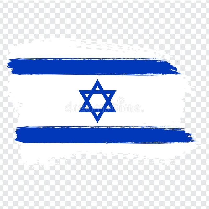 旗子以色列,刷子冲程背景 以色列的旗子透明背景的 储蓄传染媒介 皇族释放例证