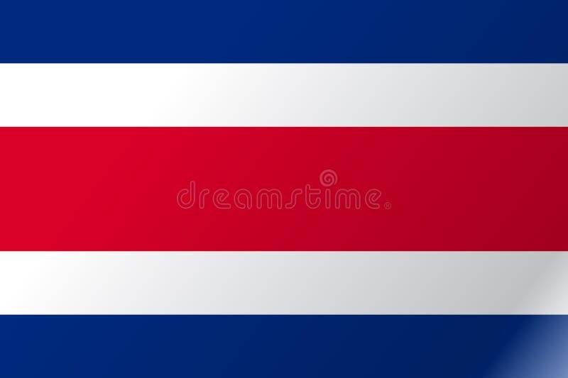 旗子哥斯达黎加平的象 向量例证
