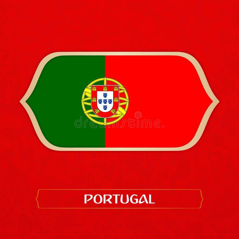 旗子在橄榄球样式被做 库存例证
