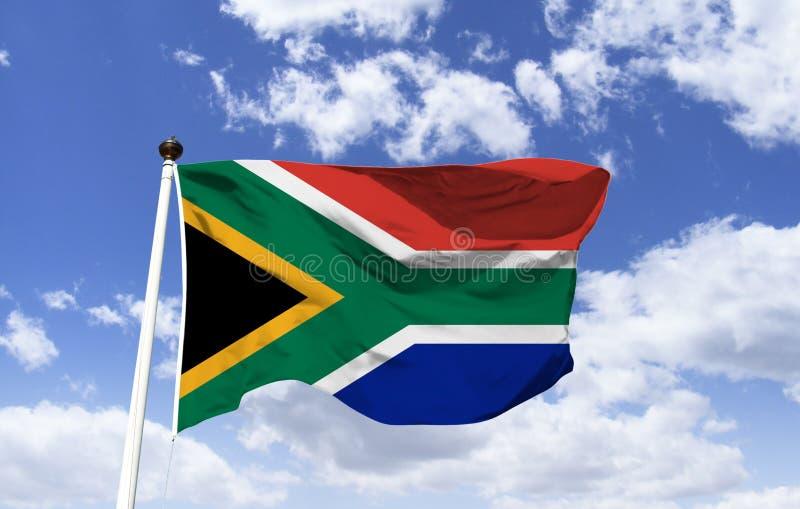 旗子的模型南非振翼 免版税库存照片