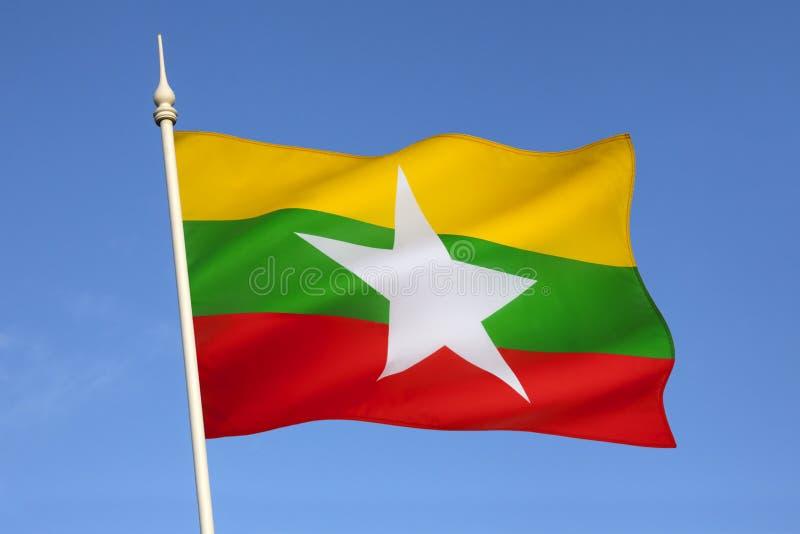 旗子缅甸(缅甸) 免版税库存照片