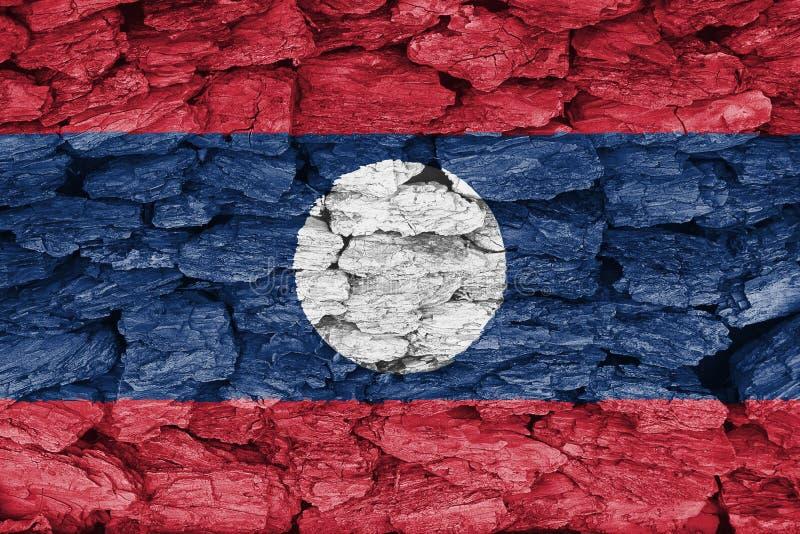 旗子老挝的纹理 皇族释放例证