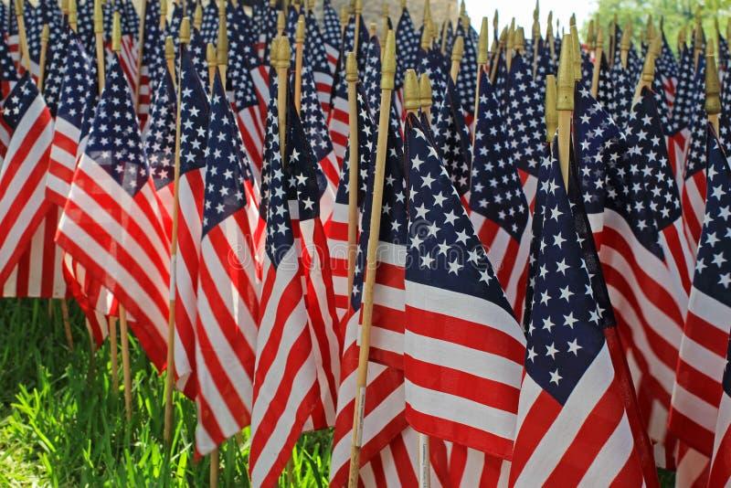 旗子装饰-一个美国假日 免版税库存照片