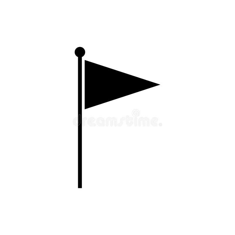 旗子象传染媒介 向量例证