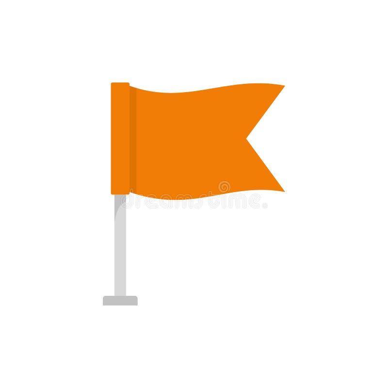 旗子象,平的样式 库存例证
