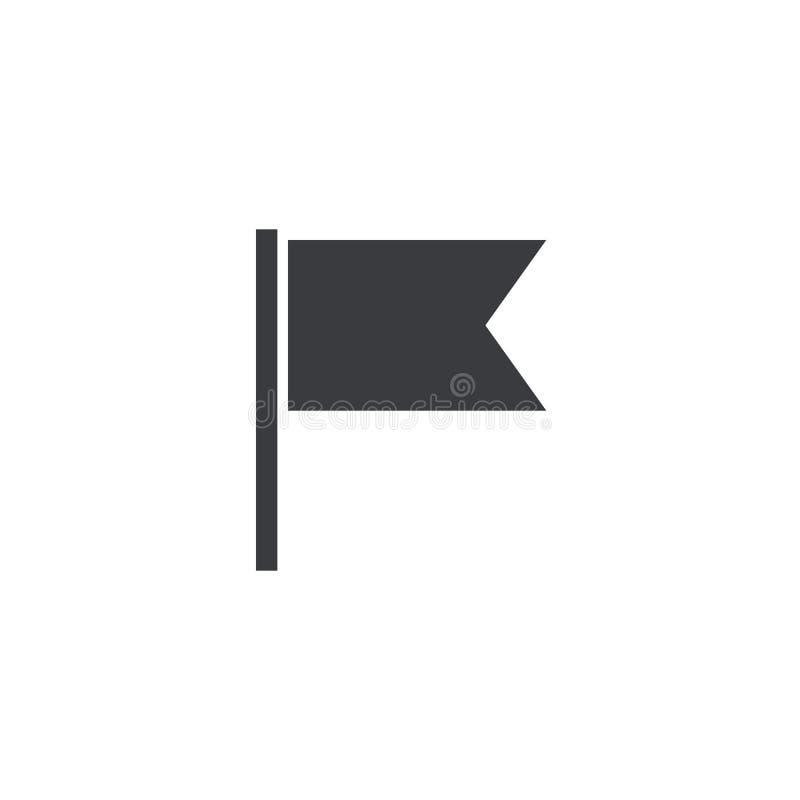 旗子象 适应图标 旗子形状 尖标志 3d方向照片回报了符号 地图地点元素 设计流动应用程序或网站的元素 皇族释放例证