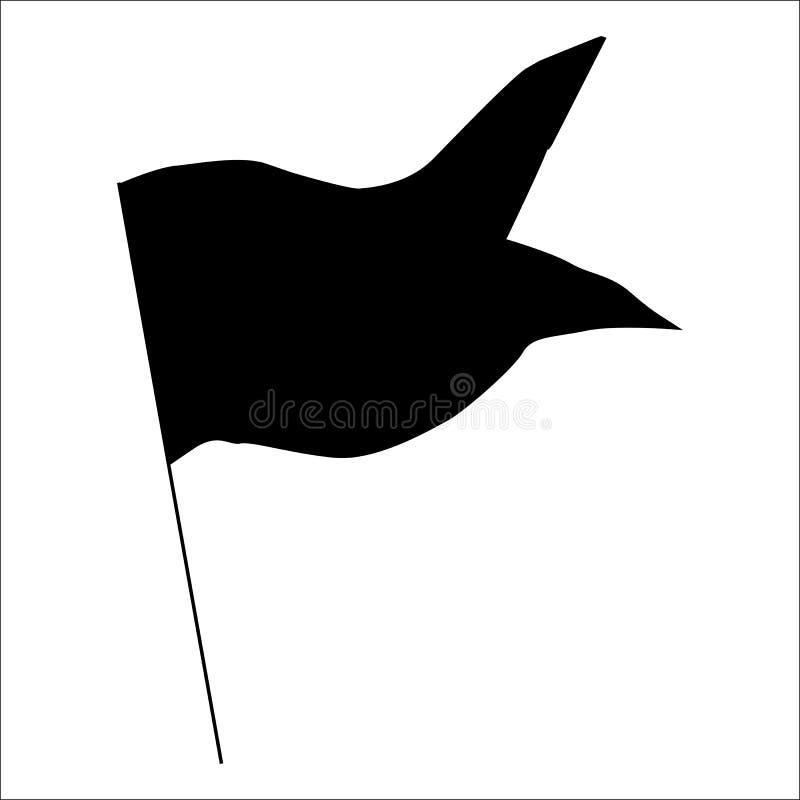 旗子黑剪影 皇族释放例证
