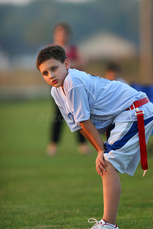 旗标橄榄球球员 免版税库存照片