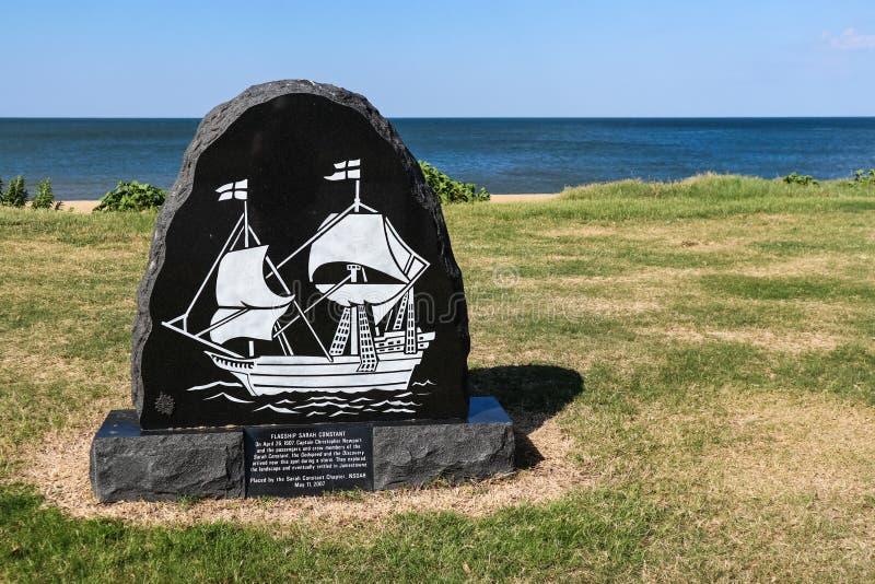 旗舰萨拉常数的历史标志 免版税库存图片