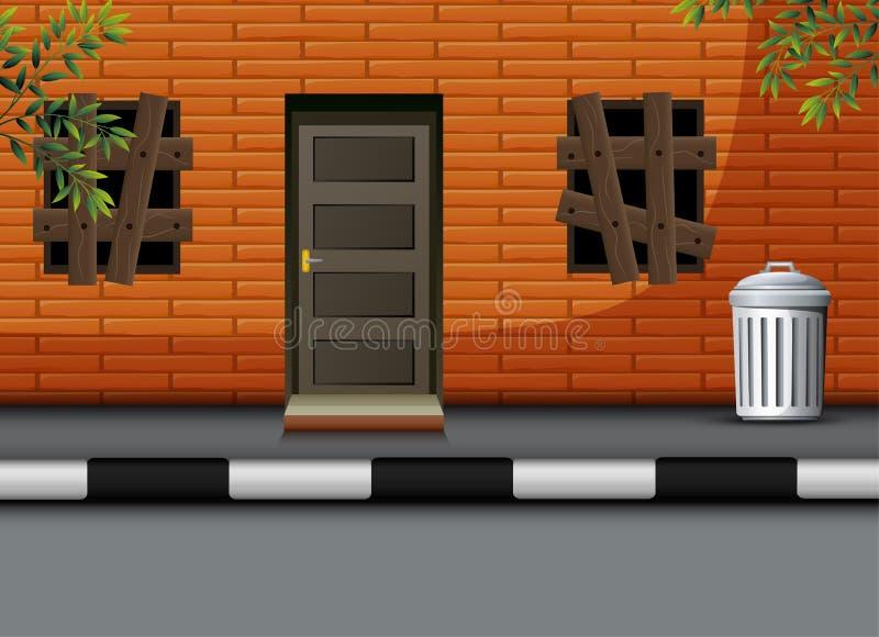 无人居住的房子动画片视图  皇族释放例证