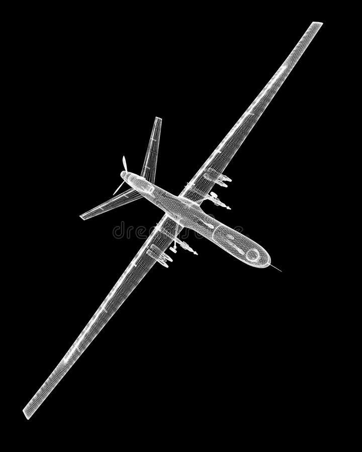 无人空中车(UAV) 免版税库存图片