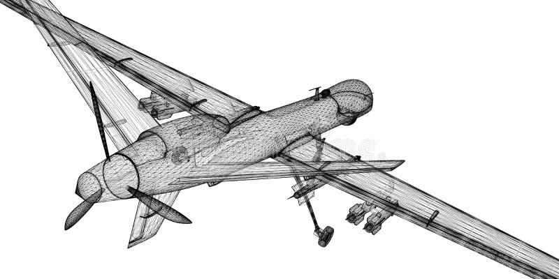 无人空中车(UAV) 免版税图库摄影